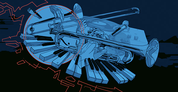 Jazz monthly illustration